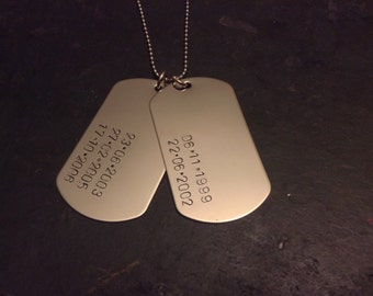 Double Dog Tag Stainless Steel Necklace