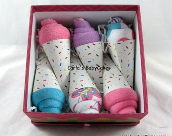 Receiving Blanket Cupcake Baby Shower Gift New Mom Gift
