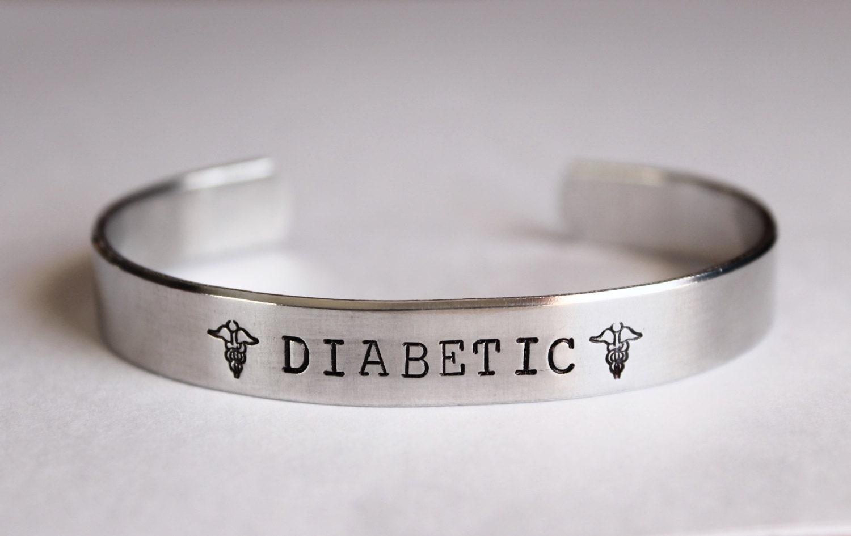 Medical Alert Bracelet Hand Stamped Allergy Bracelet