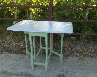 Vintage Painted Shabby Chic Gateleg Table Dining Table Kitchen Table