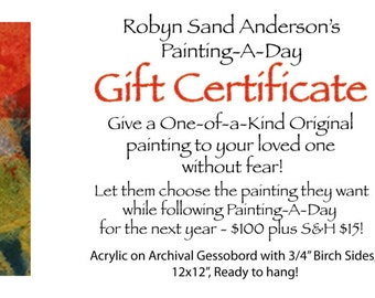Gift Certificate: Painting-A-Day Christmas 2013