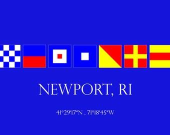 Newport RI  Welcome Sign