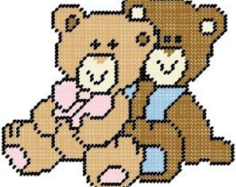 Friend Bears Plastic Canvas Pattern