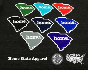 South Carolina Home. Colored Vinyl Sticker