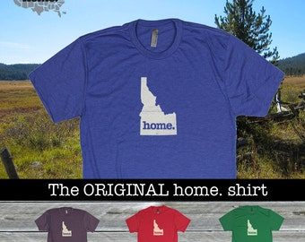 Idaho Home. shirt- Men's/Unisex SOFT red green blue purple