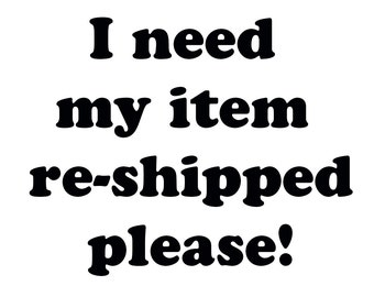 Item Re-ship (Stickers and Decals)