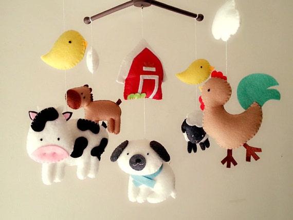 Baby Crib Mobile Farm Mobile Animal Mobile Barnyard