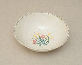 Antique XVIIIth century French Hand Painted Salad Bowl with Wild Flower Decor