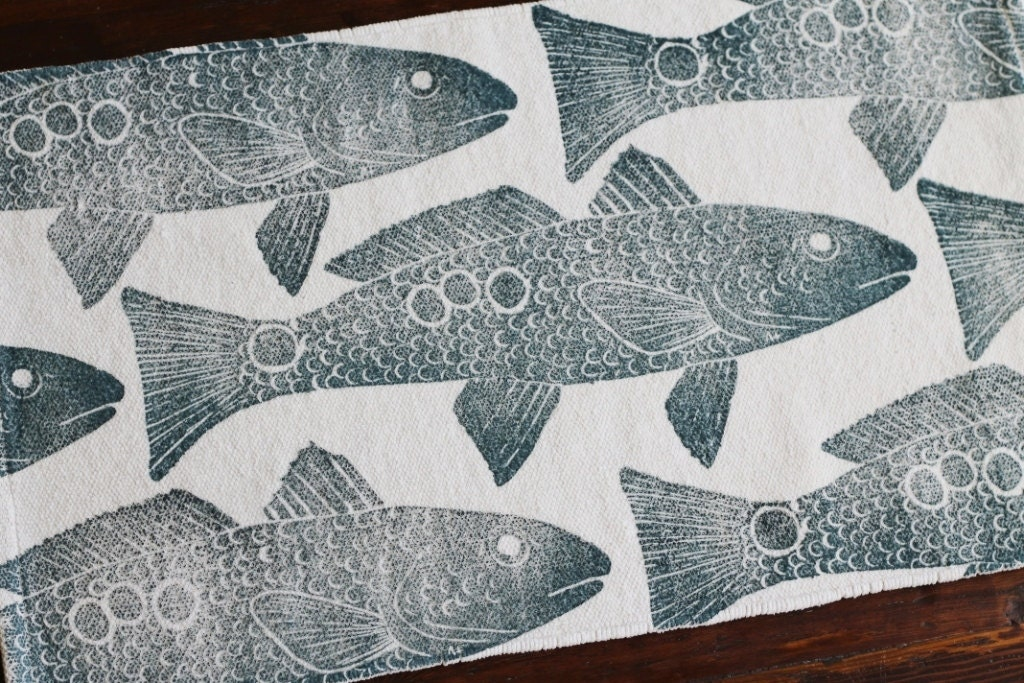 Bath Rug Bath Mat Redfish Fish Cotton Chenille Rug