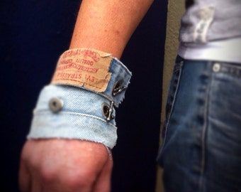 Levi Denim Cuff Bracelet British Recycled