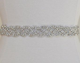 1'' Wedding Sash/Belt,Bridal Sash,Rhinestone Sash,Beaded Sash, Satin Wedding Sash,Pearl Wedding Sash, wedding, sash, bridal, rhinestone