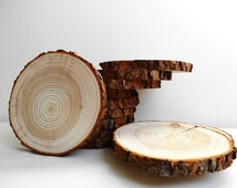 """10x8""""-9"""" Wood Slices, Tree Slices, Wood Circles, Centerpieces, Woodworking, Wedding Wood, Tree Trunk Slices, Bark Wood, Charges, Wood Slabs"""