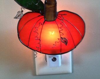 Stained Glass Pumpkin Night Light or Sun Catcher
