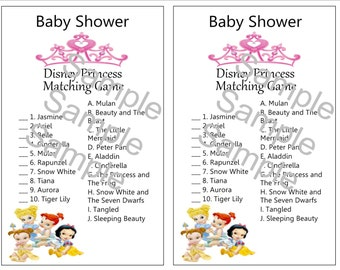 Disney Baby Princess Shower Theme Game
