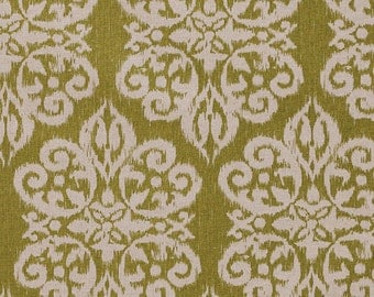 Home Decor Fabric Designer Fabric Basketweave Cotton Chartreuse Ikat Celery Upholstery Fabric By The Yard Home Furnishing Home Decor