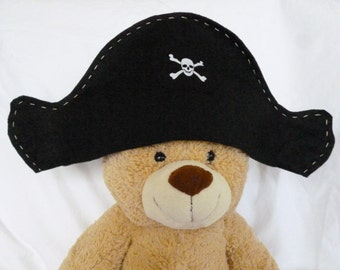 Felt Pirate Hat, Kid's Pirate Hat, Dress Up Pirate, Pirate Play, Pirate Birthday Party, Pirate Photo Prop, Halloween Pirate Costume,