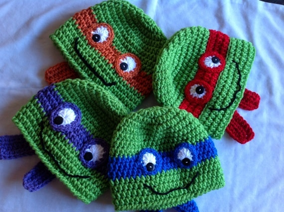 Free Crochet Pattern Teenage Mutant Ninja Turtle Hat Dancox For