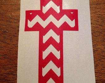 Chevron Cross w/ monogram