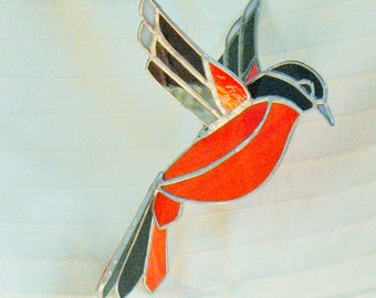 Popular items for oriole bird on etsy for Baltimore glassware decorators