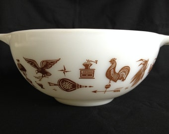 Pyrex Early American Cinderella Mixing Bowl 2 1/2 Quart 443