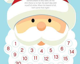 Disclaimer I Have No Idea If 24 Cotton Puffs Will Fit On Santa S Beard You May To Transplant Some His Eyebrows Good Luck