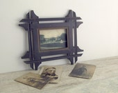 Antique Wooden Frame - vintage picture frame - old photo frame - home decor - shabby chic - made in USSR