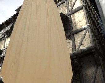 FREE SHIP Renaissance Medieval Underskirt SCA Garb Choice Muslin Unbleached or White Size Flexible m-xxl