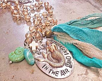 Salt in the air Sand in my Hair Mermaid necklace!