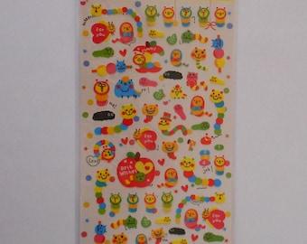 Kawaii Hungry Caterpillars Sticker Sheet