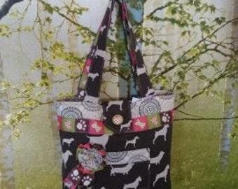 Purse/ Handbag with Dog Breed Pattern