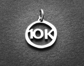 Sterling 10K Running Charm