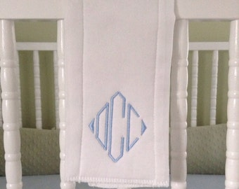 Custom Monogrammed Burp Cloth