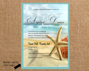 wedding invitations Beach wedding invite