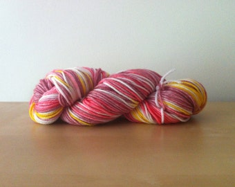 Legend of Zelda - Zelda - Superwash Merino Hank/Skein - Pink/Yellow/White/Natural