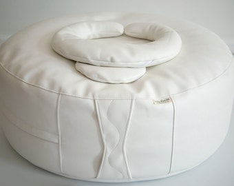"Little Rascals Bean Bag Ottoman with Crescent Positioning Pillow and 8"" Circle Pillow  Photo Prop Newborn Photography"