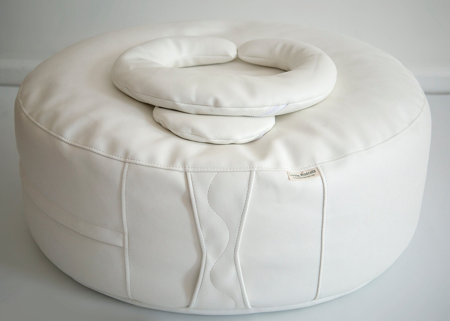 rascals bean bag ottoman with crescent positioning