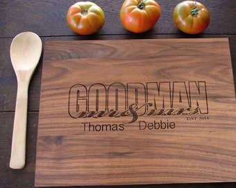 Mr and Mrs Personalized Wedding Cutting Board