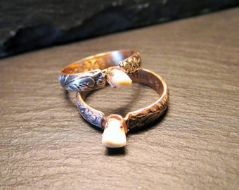 Custom gold filled baby tooth ring
