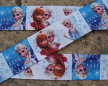 "3 yards Frozen Ribbon #5 Printed Ribbon hair Bow Ribbon Frozen Princess 1"" Ribbon Ribbon by the yard"