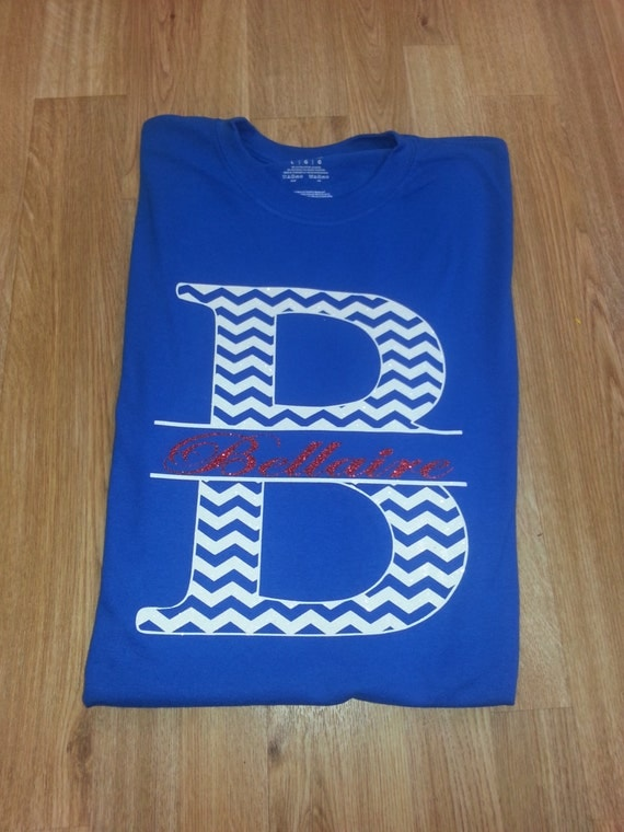items similar to chevron school spirit shirts with glitter