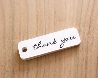 script thank you tags - handmade packaging tags - white tags