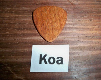 Koa guitar pick