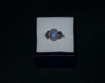 Avon Opal ring and earrings size 8