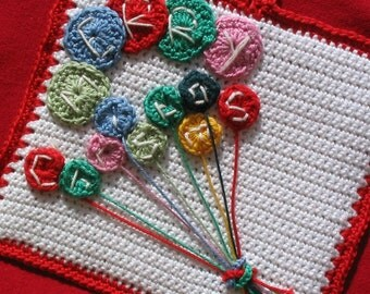 Bunch of Balloons potholder pattern - INSTANT DOWNLOAD