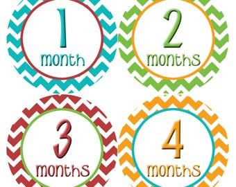 Baby Month Stickers, Baby Boy Gift, Milestone Stickers, Monthly Sticker, Monthly Baby Boy Stickers, Baby Bodysuit, Baby Shower Gifts 007