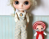 Girlish Blythe doll outfits ------ Bluepoint trousers and Korea doll T-shirt