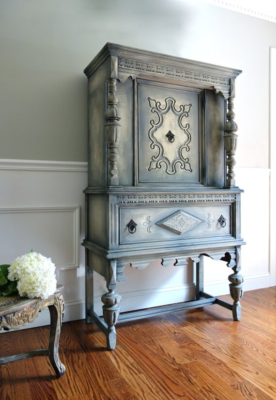 Items Similar To Sold Antique Jacobean Hand Painted