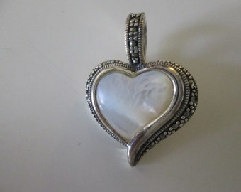 Vintage Silver and Mother of Pearl Pendant
