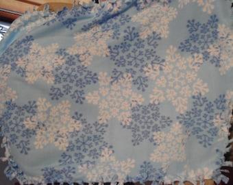 Snow Flake Fleece Dog Blanket