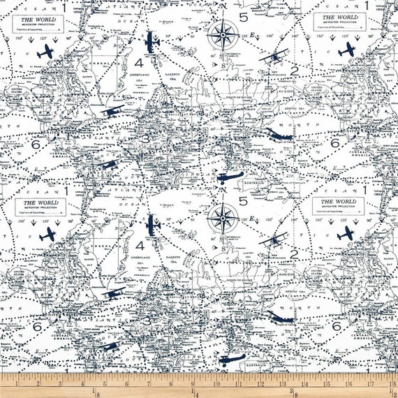 Ships same day premier prints air traffic premier navy for Airplane print cotton fabric